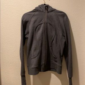 Gray (with silver sparkles!!) Lululemon zip up